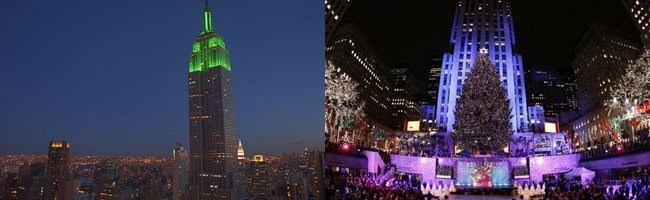 Empire State Building und Rockefeller Center