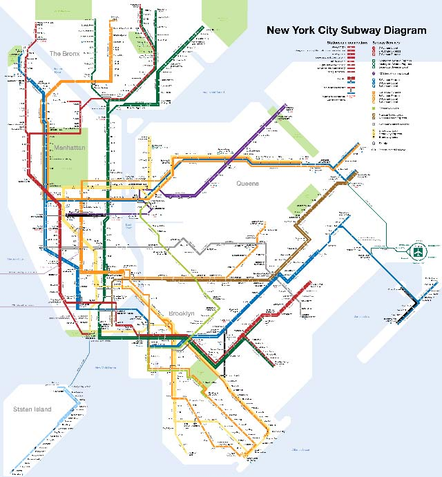 Métro de New York grande carte